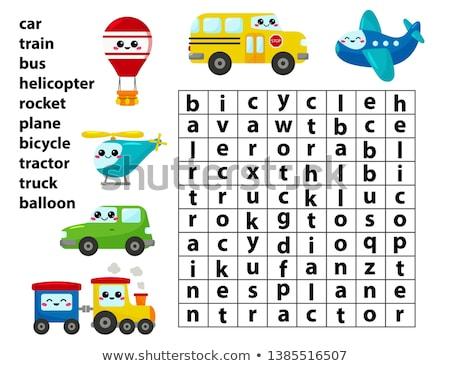 Krzyżówka wyszukiwania słowa gry edukacji dzieci Zdjęcia stock © natali_brill