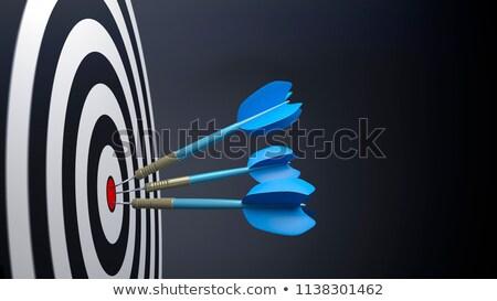 Vermelho alvo azul dardos 3D 3d render Foto stock © djmilic