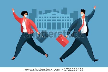 Business People Running From Virus Stock photo © Lightsource