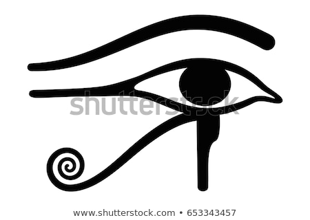 Egyptian Eye of Horus or wadjet is a symbol of royal power and protection Stock photo © shawlinmohd