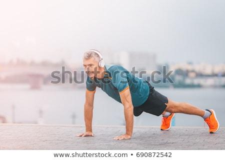 Sağlıklı orta yaş adam yukarı Stok fotoğraf © Jasminko