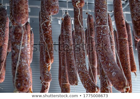 Beneficial mold growth on the salami i Stock photo © grafvision