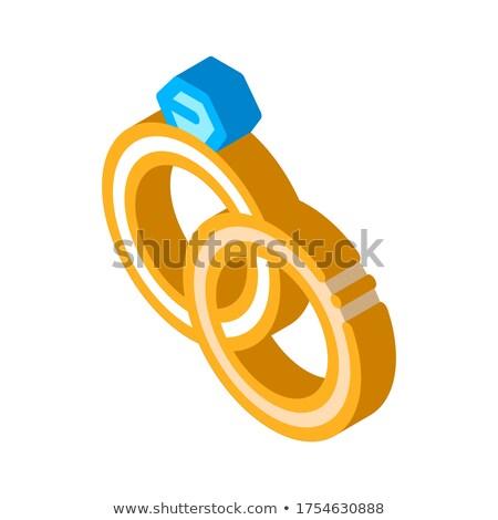 Esportes óculos equipamento isométrica ícone vetor Foto stock © pikepicture