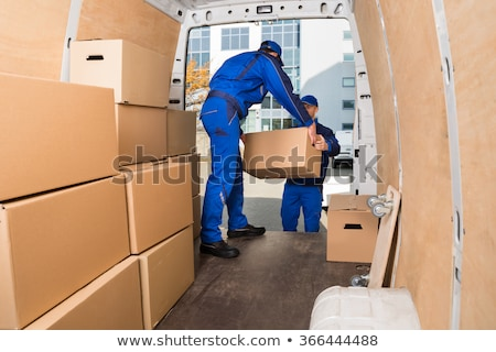 Truck Movers Loading Van Carrying Boxes Stock photo © AndreyPopov