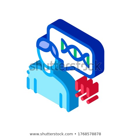 Man Genetic Molecule isometric icon vector illustration Stock photo © pikepicture