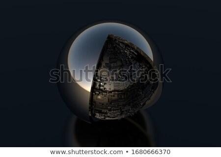 3d render fremden Techno Objekt Ball Jugend Stock foto © Melvin07