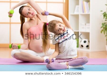 incinta · ragazza · bambino · esercizio · baby · moda - foto d'archivio © Paha_L