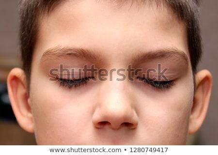 Fiú lány szemtől szembe csukott szemmel nő szem Stock fotó © Paha_L