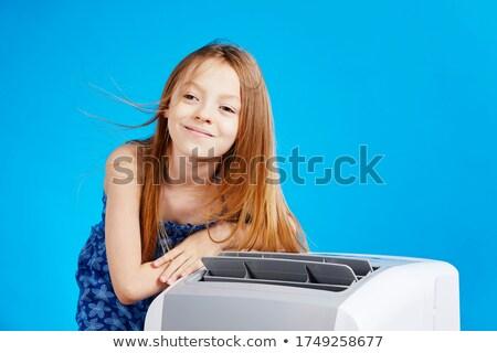 Kid in air Stock photo © zurijeta