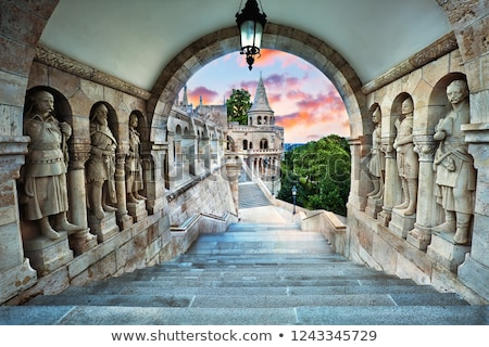 budapest hungary from fishermens bastion stock photo © vladacanon