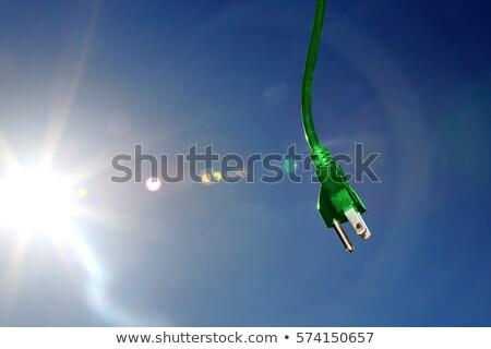 zielone · elektryczne · środowiskowy · trawy · pozostawia · ściany - zdjęcia stock © iqoncept