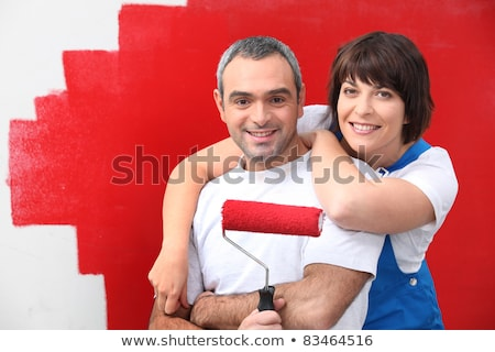couple of diy painting it red Stock photo © photography33