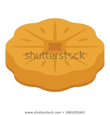 Shortcakes with chocolate glaze isolated on white background Stock photo © zhekos