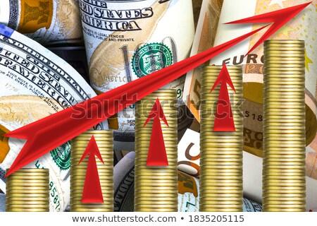 amerikaanse · bankbiljetten · groeiend · pijl · Blackboard · achtergrond - stockfoto © Ansonstock