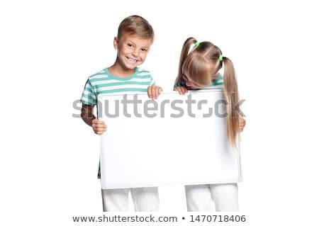 dois · atraente · meninas · sorridente - foto stock © stockyimages