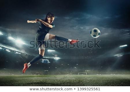 Kobiet piłka nożna kopać piłkarz piłka Zdjęcia stock © stevemc