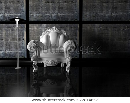Modern pattern armchair in baroque design interior, black and wh Stock photo © Victoria_Andreas