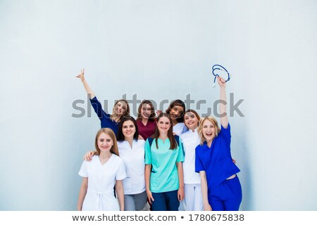 Stock photo: Group of young nurses