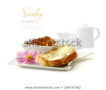 コーヒーカップ · フルーツ · コーンフレーク · パン · トースト - ストックフォト © juniart