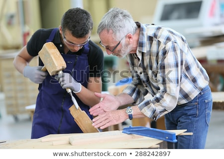 craftsman and apprentice working stock photo © photography33