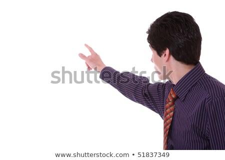 деловой человек мнимый кнопки белый работу Сток-фото © posterize