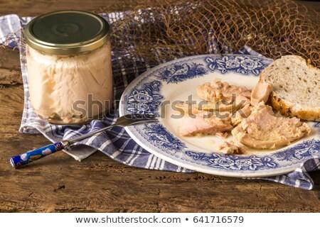 tuna cantabrian sea oil stock photo © marimorena