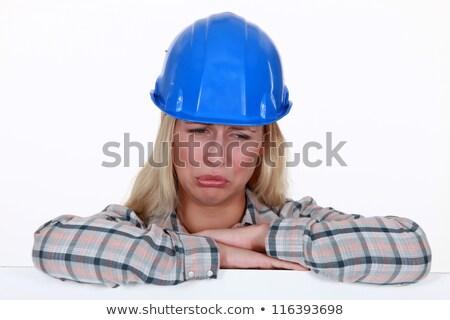 A pouting tradeswoman Stock photo © photography33