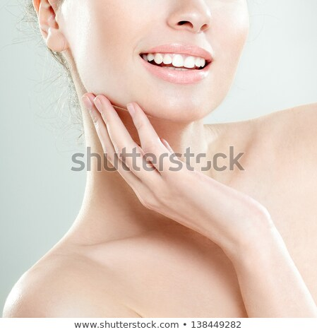 Delighted happy woman face - beauty toothy smile Stock photo © gromovataya