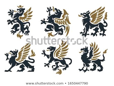 Griffin ilustração arte assinar Águia leão Foto stock © creative_stock