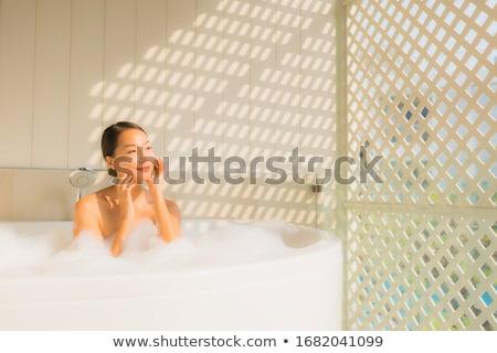 donna · trattamento · termale · bianco · faccia · felice - foto d'archivio © wavebreak_media