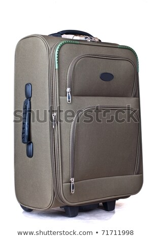 green convenient suitcase on castors on a white background Stock photo © shutswis