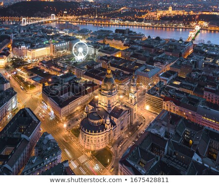 budapest historic night panorama stock photo © lithian