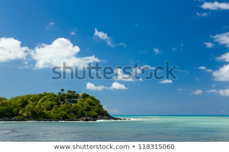 Friar's bay on St Martin in Caribbean Stock photo © backyardproductions