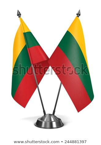 Miniatuur vlag geïsoleerd vergadering Blauw Stockfoto © bosphorus