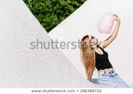 retrato · jóvenes · dama · gafas · de · sol · azúcar - foto stock © acidgrey