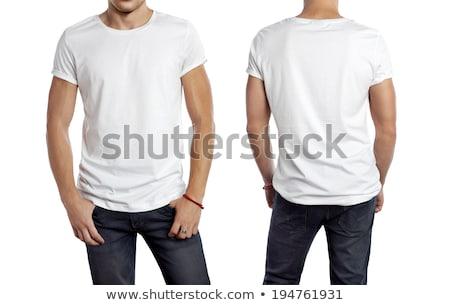 подростку · белый · рубашку · футболки · молодые · улыбаясь - Сток-фото © GekaSkr
