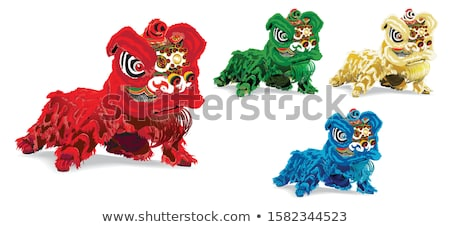 Lion dance head costume Stock photo © Ronen
