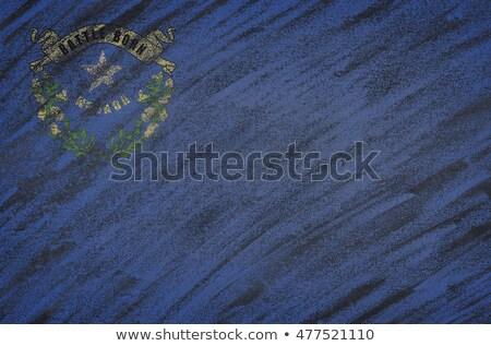 フラグ ネバダ州 黒板 描いた チョーク アメリカン ストックフォト © vepar5