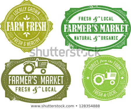 Vintage Style Farmers Market Stamps Stock photo © squarelogo