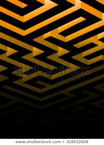 Doolhof vector exemplaar ruimte poster achtergrond grafische Stockfoto © krabata