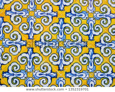 Valencia részlet hagyományos csempék homlokzat régi ház Stock fotó © boggy