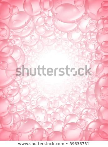 ピンク 泡 観点 フレーム 透明な バス ストックフォト © Lightsource
