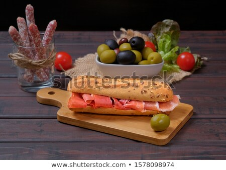 Sandwich Spain typical bread with sausage Stock photo © guillermo