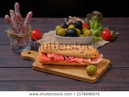 сэндвич · Испания · типичный · хлеб · колбаса · различный - Сток-фото © guillermo