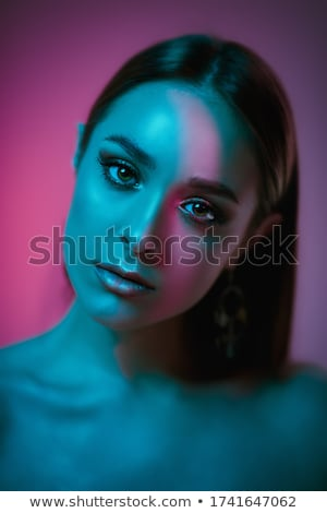 evoluzione · abstract · scienza · femminile · ritratto · faccia - foto d'archivio © tolokonov