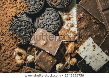 bisküvi · çikolata · yalıtılmış · beyaz · kurabiye · kek - stok fotoğraf © foka