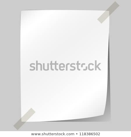 Blank white sheet of paper stuck to the wall. Stock photo © lenapix