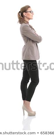 Zdjęcia stock: Side View Of Woman Standing