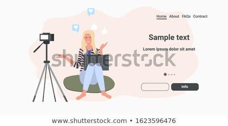 laptop with camera on tripod Stock photo © Mikko