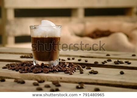 small latte macchiato with coffee beans Stock photo © Rob_Stark